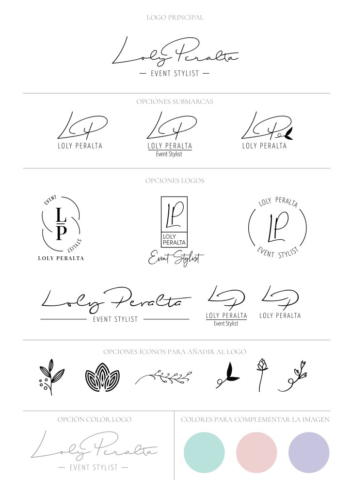 propuestas de logo para organizadora de eventos