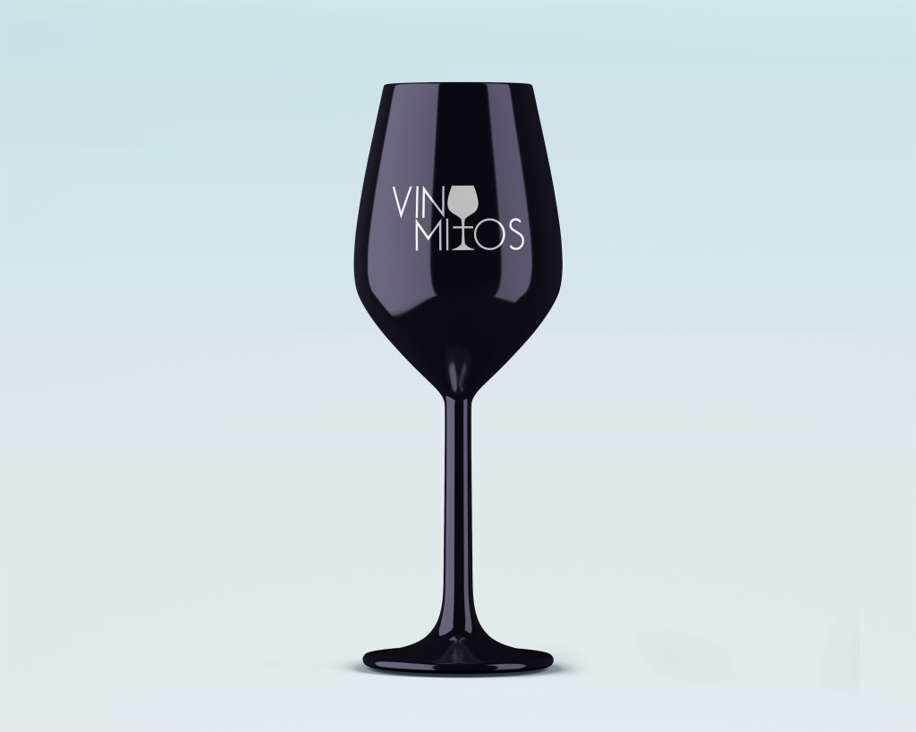 copa negra de vino