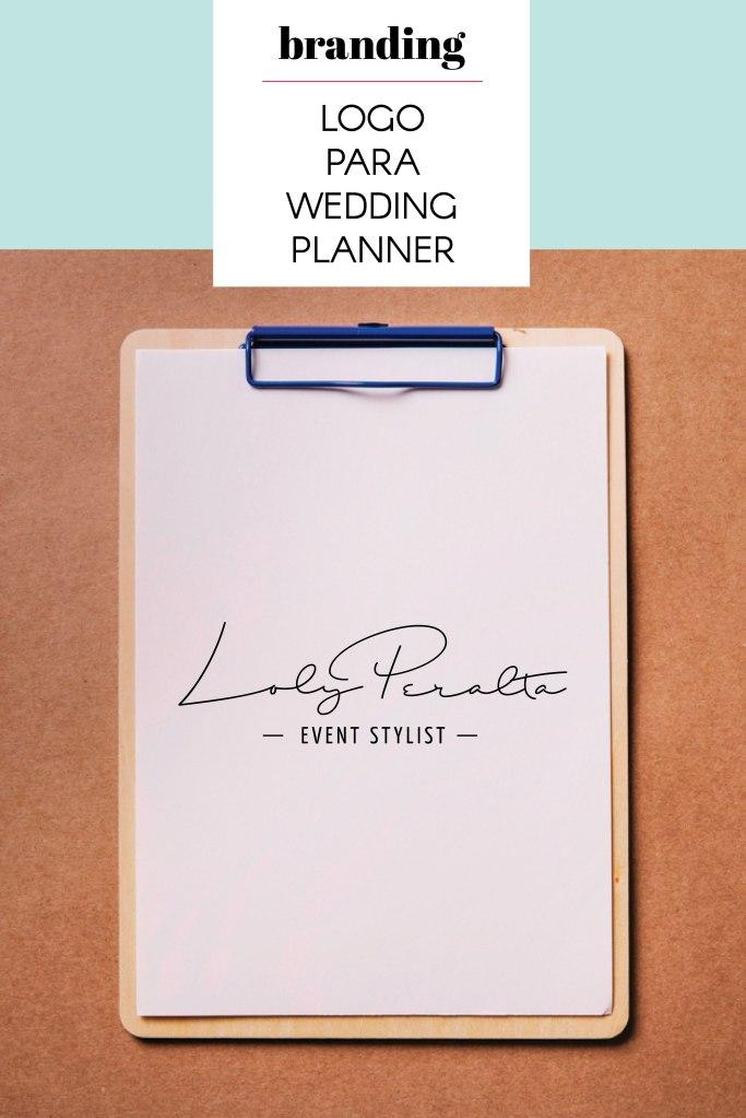 diseño de logo para wedding planner